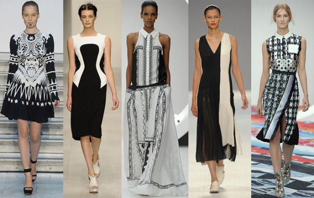 Black and white prints London Fashion Week Fashuun Village