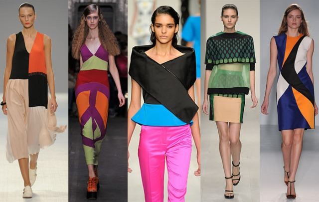 Colour Blocking or Contrasting London Fashion Week Fashuun Village