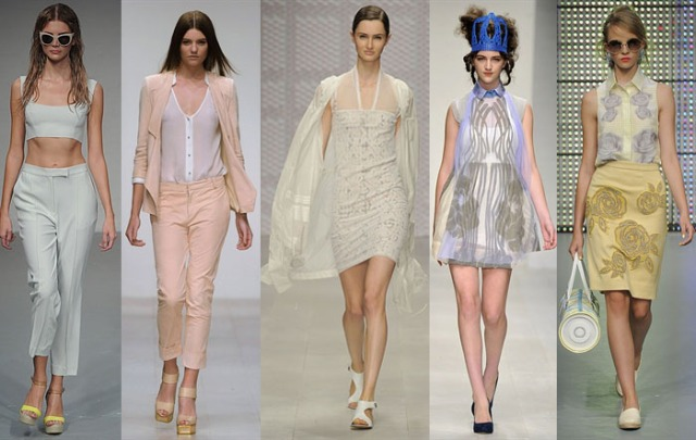 Pale Pastel Colours London Fashion Week Fashuun Village