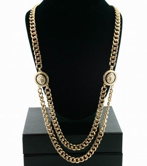Versace Style Lion Icon Celebrity Necklace