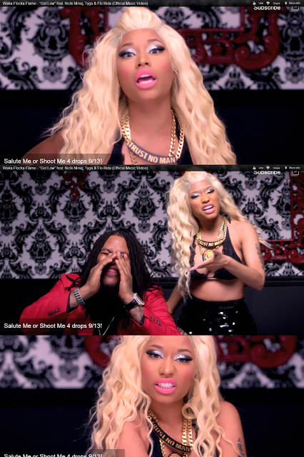 Nicki Minaj Wacka Floka Versace Lion Necklace