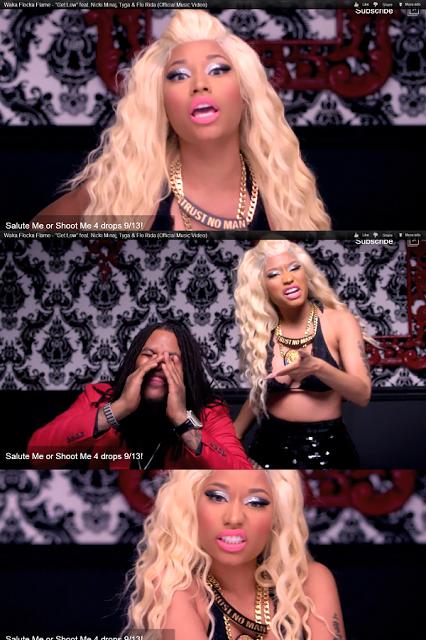 Nicki Minaj Wacka Floka Versace Lion Necklace