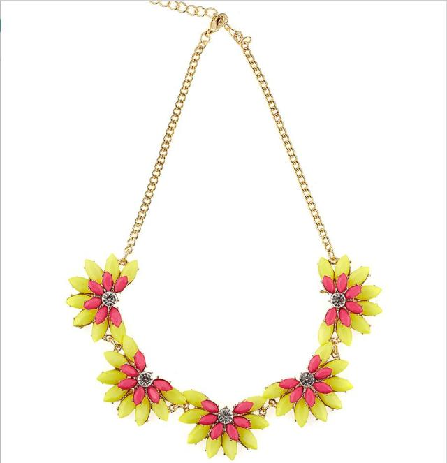 Summer Neon Flowers Necklace