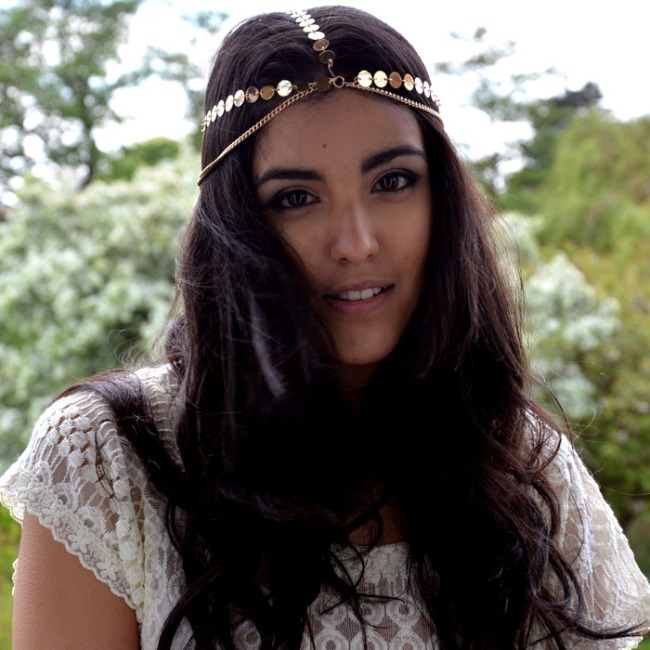Grecian Arabic Hair Head Chain Jewellery